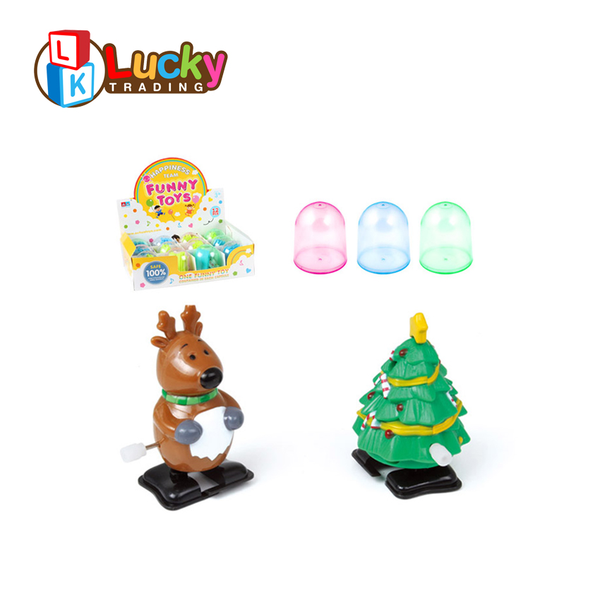 cute shape deer christmas tree wind up toy mechanism for sale