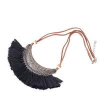 Женское винтажное ожерелье в этническом стиле, ожерелье из кожаной веревки с подвеской, ювелирные изделия в стиле бохо, 21 цвет(Китай)