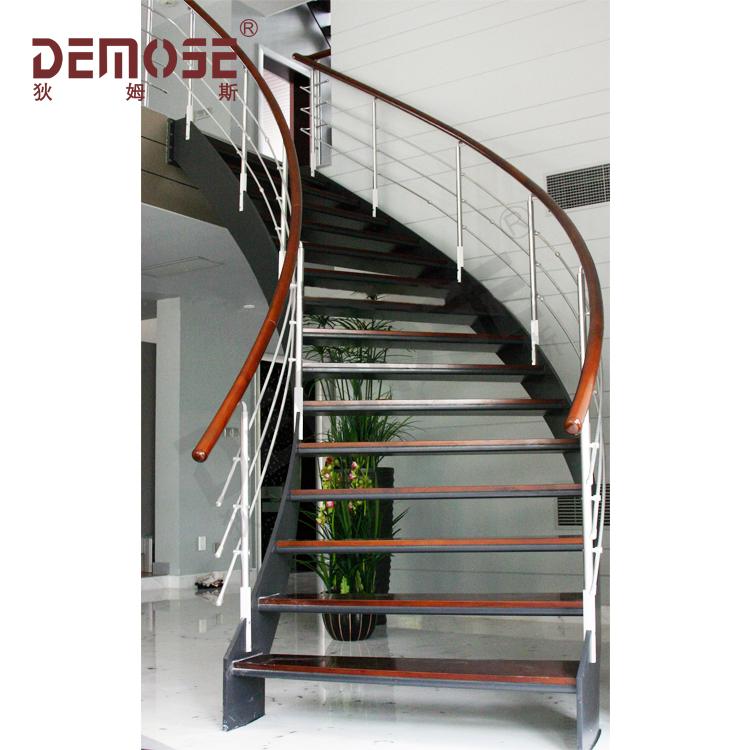Fancy Wood Steel Staircase/metal Arc Diy Stair Prices