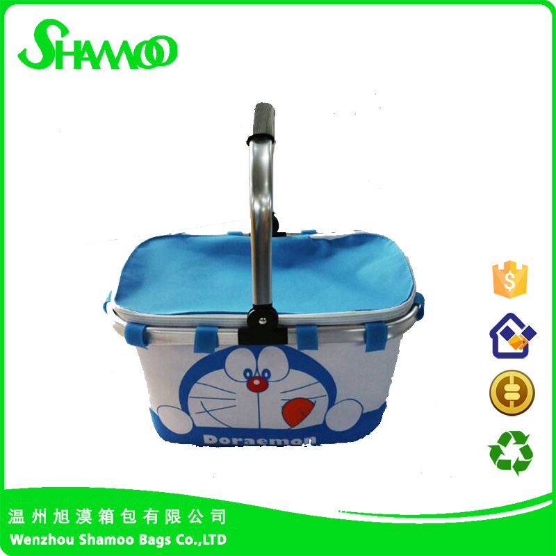picnic folding lunch cooler bag for frozen food with handle