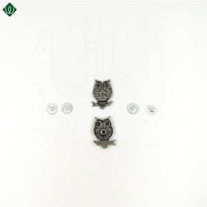 tiny owl silver snap buttons for garmant