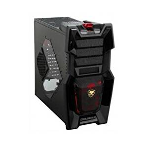 COUGAR Challenger Black Steel ATX Computer Case with 12cm COUGAR TURBINE HYPER-SPIN Bearing Silent Fans and 20cm LED Fan