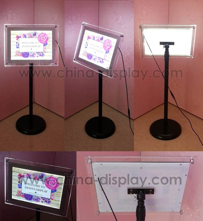 2019 advertising illuminated display wall mounted slim led lighting acrylic frame crystal light box