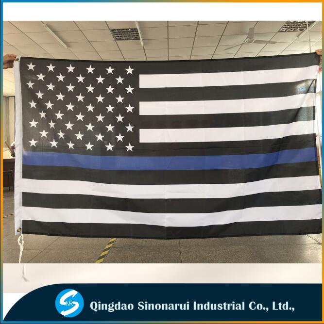 The Thin Blue Line 5ftx3ft American Flag