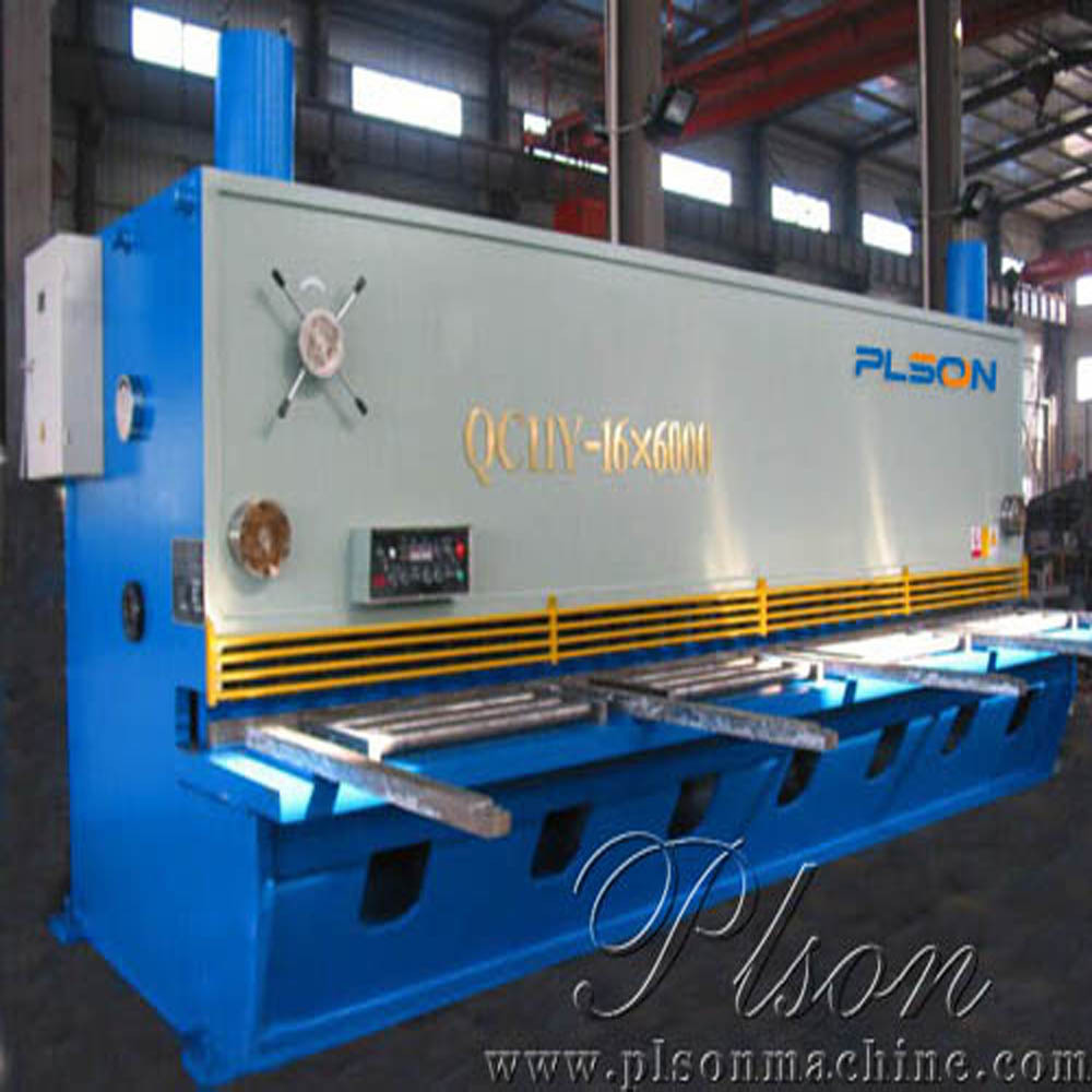 PLSON QC11K series hydraulic guillotine shearing machine made in China