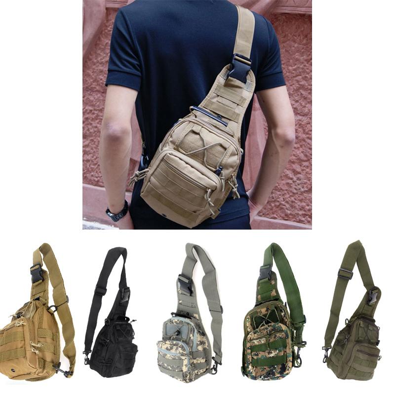 Outdoor Sport Camping Hiking Trekking Sling Bag Military Tactical Shoulder Men Women