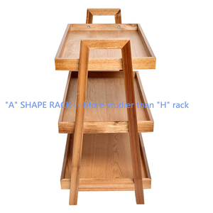 3-Tier Acacia Wine Rack Wooden Stand Living/Study Room/Bathroom/ Kitchen Storage Shoe Racks