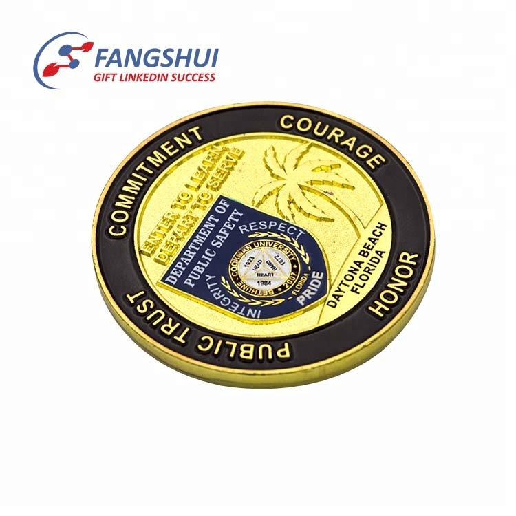 Soft enamel Die casting Printing double side brass coin souvenir, custom military challenge 3d coin