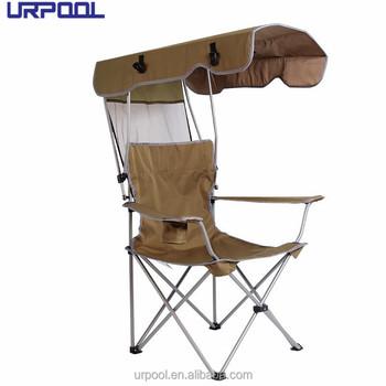 Portable Chaise De Pche Avec Pare Soleil Pliante Pour La Plage