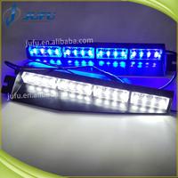 32W red blue amber white green LED UV sun visor dash warning light emergency vehicl strobe lights