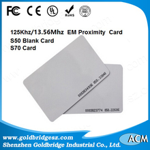 China Factory em4102 em4100 tk4100 stickers labels blank cards smart proximity blocking 125khz dual frequency t5577 rfid card