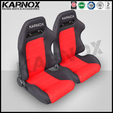 Karnox black and red cloth bus reclining seat