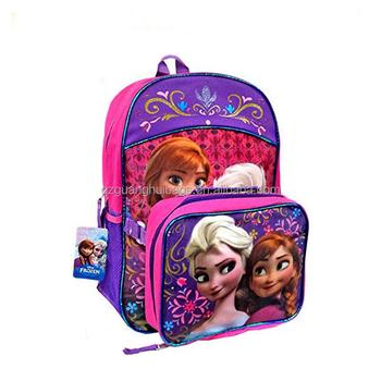 d2fac7c95c Personalizzato elsa sacchetto di scuola congelato, zaino congelati e set  sacchetto del pranzo, anna