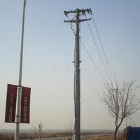 Polygonal Telecommunication Steel Pole Signal Pole with Hot Dip Galvanized Q235