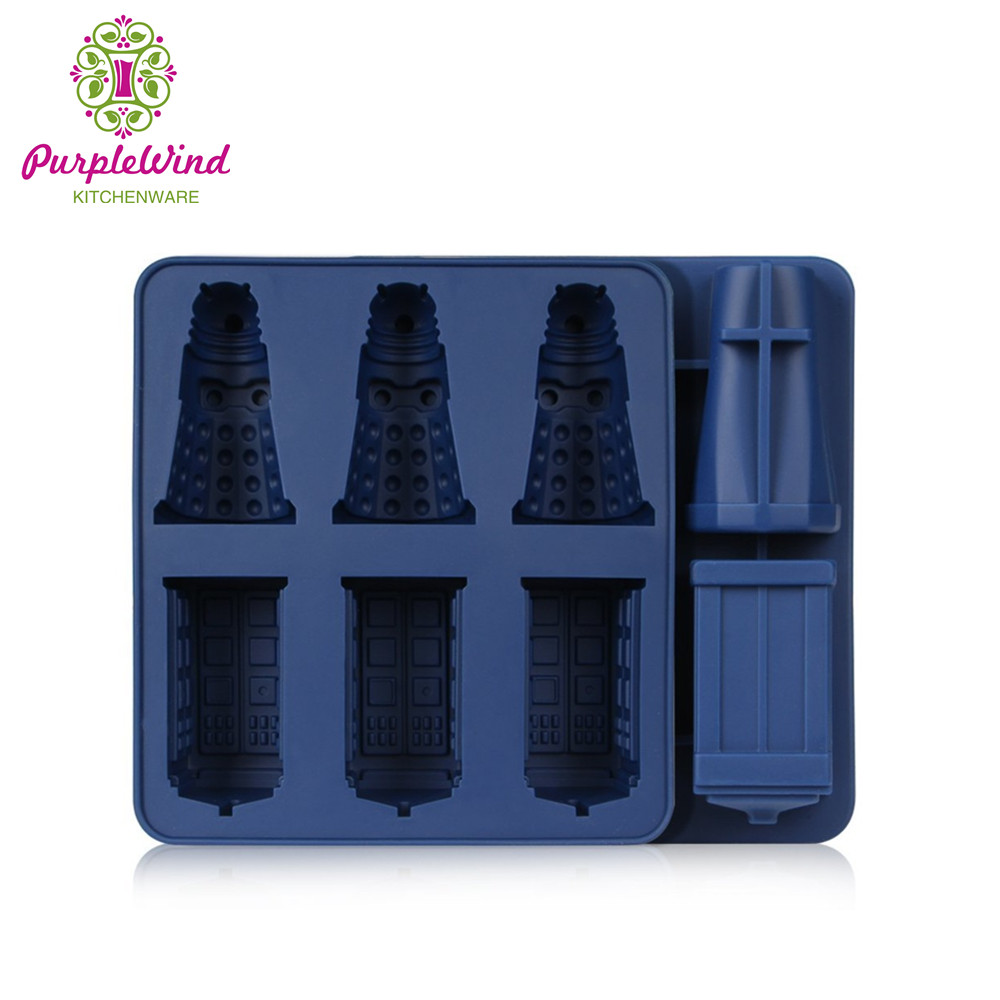 Doctor who Daleks Tardis cocktails silicone ice cube tray