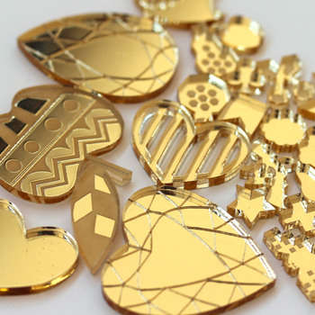 Laser Cut 3mm Gold Acrylic Mirror Sheet to Any Shape