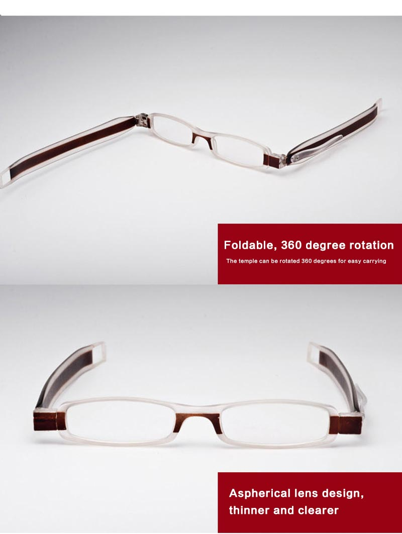 360 degree rotation Collapsible Comfy Ultra Light Reading glasses For men women Diopter Reading Glasses 1.0 1.5 2.0 2.5 3.0 3.5