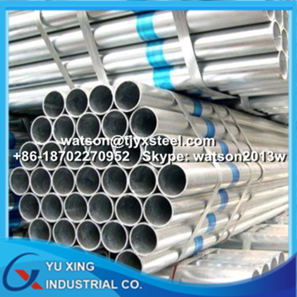 Galvanized steel Pipe BS1387 / ASTM A36 for Structure Use