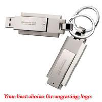 wholesale metal keyring usb pen drive , swivel shaped usb pendrive stick , usb flash drive with custom logo