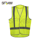 Traffic Safety Clothing Sewn Reflective Tape Hook And Loop Snap Vest Working Place Workwear Vest For Men