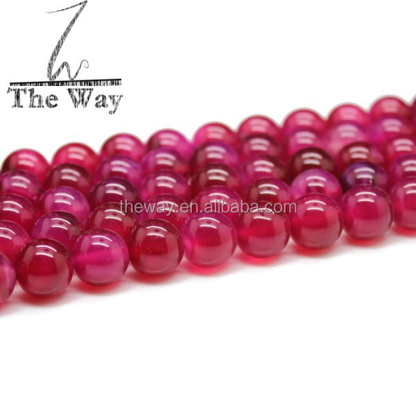 10mm <strong>Natural</strong> Clear Rose pink agate beads without band or stripe High quality agate beads