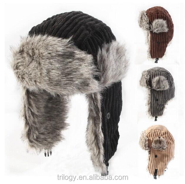 Popular Russian Winter Hats Ladies Men Earflap Cap Winter Full Cap ... b346d00b4