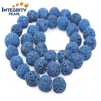 6-16mm natural loose gemstone beads navy blue lava jewel