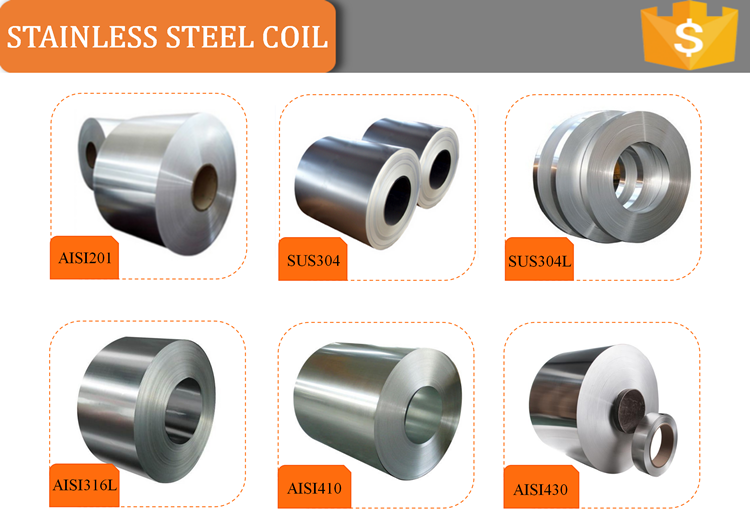 Manufacturer Wholesale prime quality pipe raw material 201 316L 430 304 cold roll stainless steel coil price