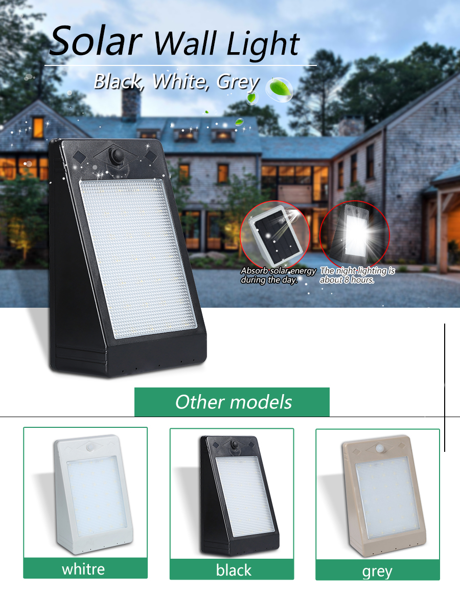 Latest Simple 3watt smd IP65 outdoor Waterproof Garden Led solar walllight