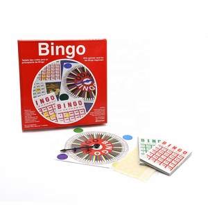 Family Fun Cardboard ProfessionaL Gambling Games Adult Easy Portable Bingo Board Game Set