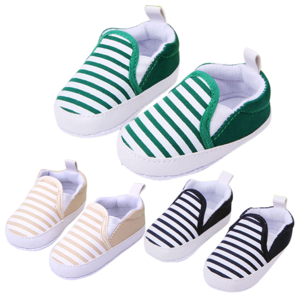 Hot Sale 1 Pair 3 Colors 3 13M Kids Baby Soft Bottom Walking Shoes Boy Girl