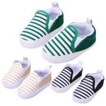 2015 Hot Sale 1 Pair 3 Colors 3-13M Kids Baby Soft Bottom Walking Shoes Boy Girl Striped Anti-Slip Sneakers with Free Shipping