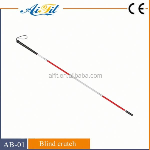 High quality Portable aluminium blind walking stick blind cane with light for safety