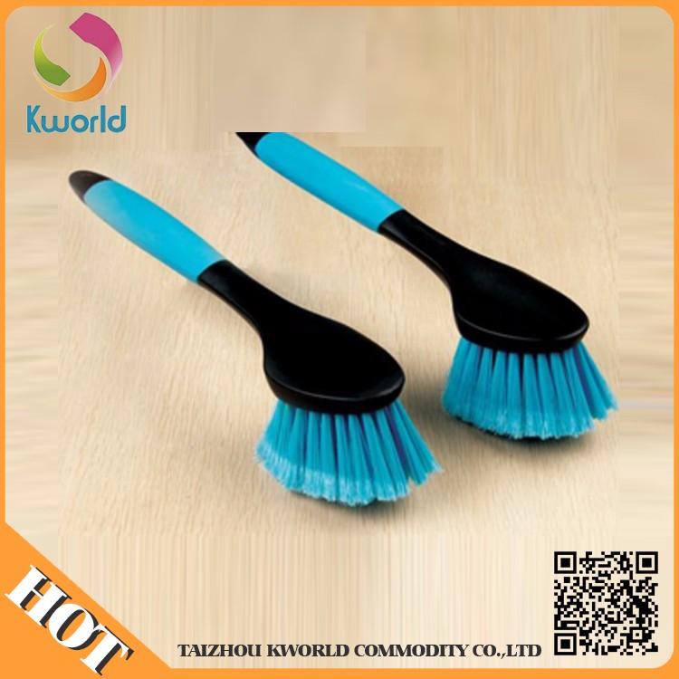 Factory Direct Sale Long Handle Car Brush/Rubber Handle Car Brush