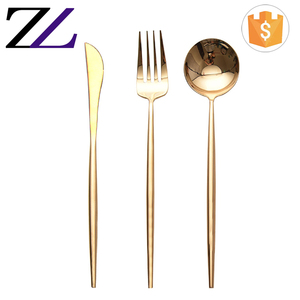 German best brand wholesale price gold plated 304 stainless steel flatware set wedding event