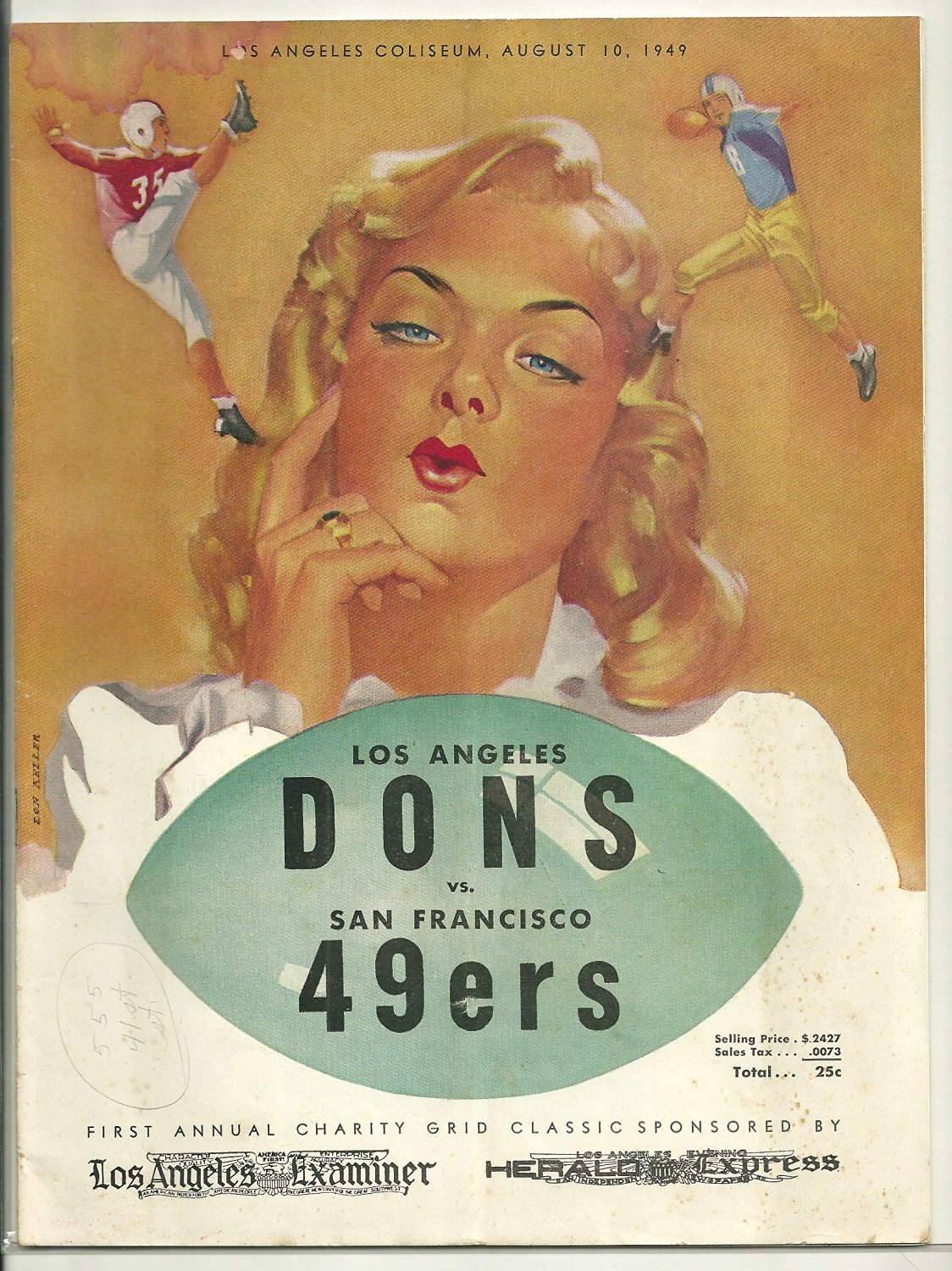 All-America Football Conference Los Angeles Dons vs San Francisco 49ers Game Day Program