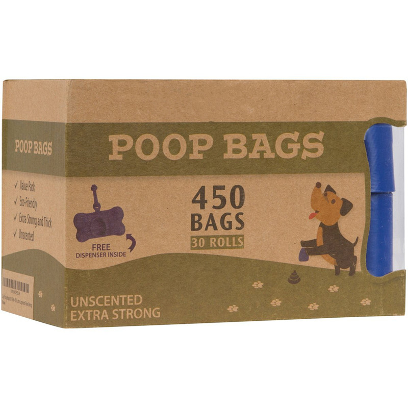 Unscented Extra Strong Biodegradable Dog Pickup Waste Bag With Dispenser