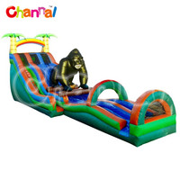 20' RIP N' DIP GORILLA WITH LANDING 48, china inflatable slide tarpaulin slide