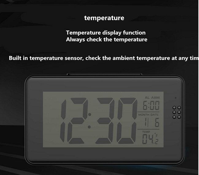 Remote Control Alarm Clock Camera
