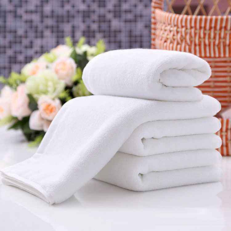custom logo lace men queen soft bench dobby white towel