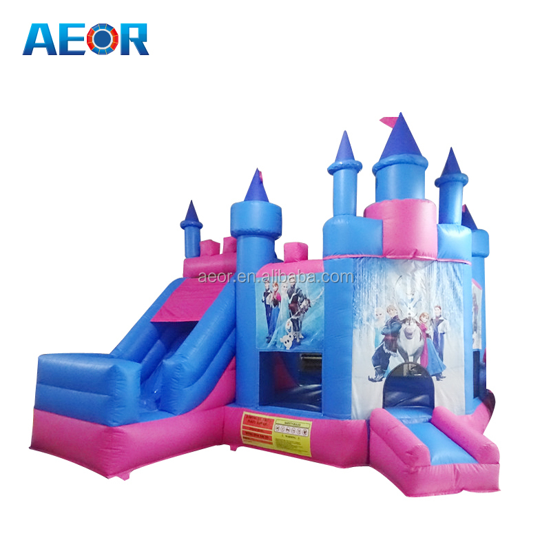 AEOR hot sale inflatable frozen castle/cheap air bouncer inflatable trampoline/used commercial inflatable bouncer