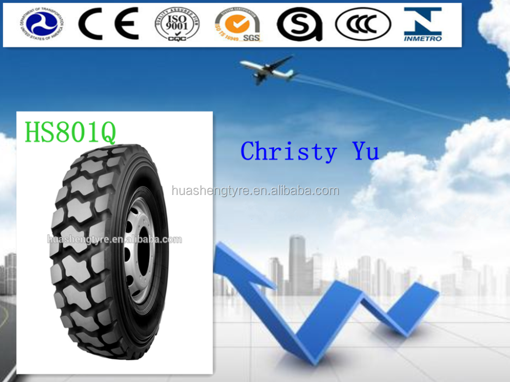 High resistance to chip all steel Radial Tire HS801Q for truck driving wheel with DOT standard