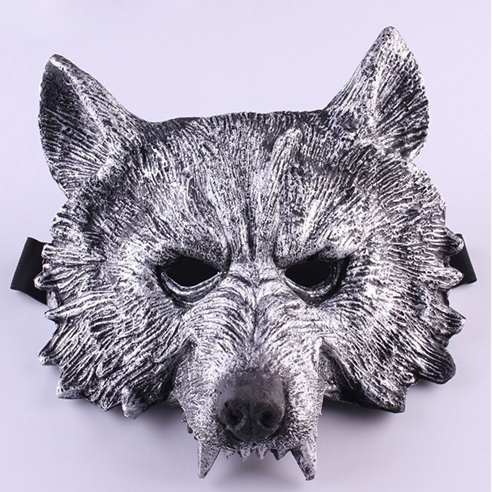 LUCKSTAR(TM) Halloween Terror Face Wolf Werewolf Mask Decoration for Cospaly Costume Party Theater Prop Themed Bar Decoration (Style 2)
