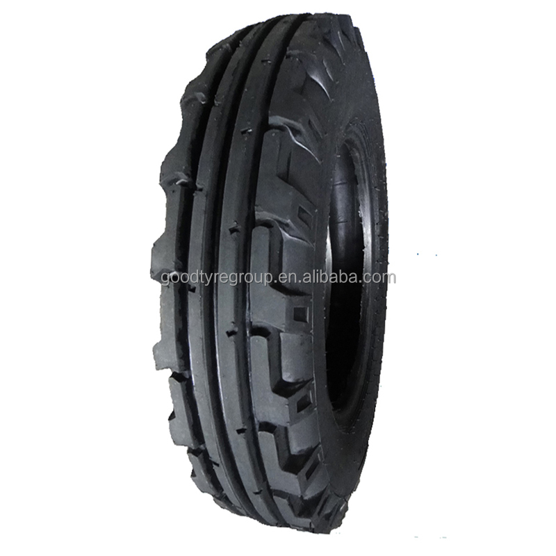 Chinese Top quality agricultural farm tractor front tyres 6.00-16-8pr F-2 TRI RIB