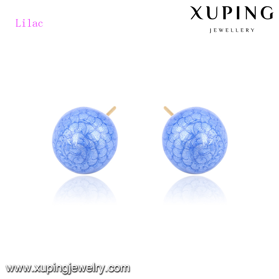92437 xuping charming high quality fancy stud earring with 18k gold plated