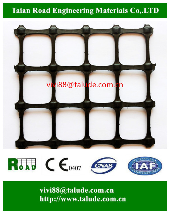 Plastic mesh grid road system biaxial polypropylene geogrid for road soil stabilizer