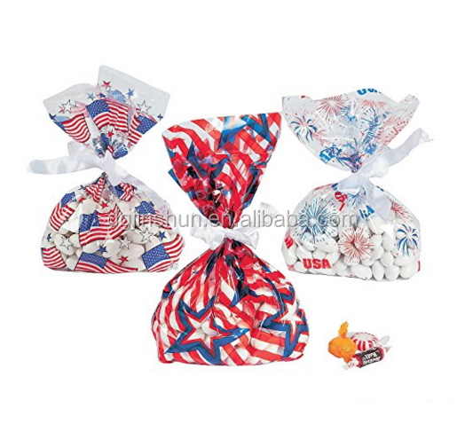Patriotic Cellophane Goody Bags for Kids party