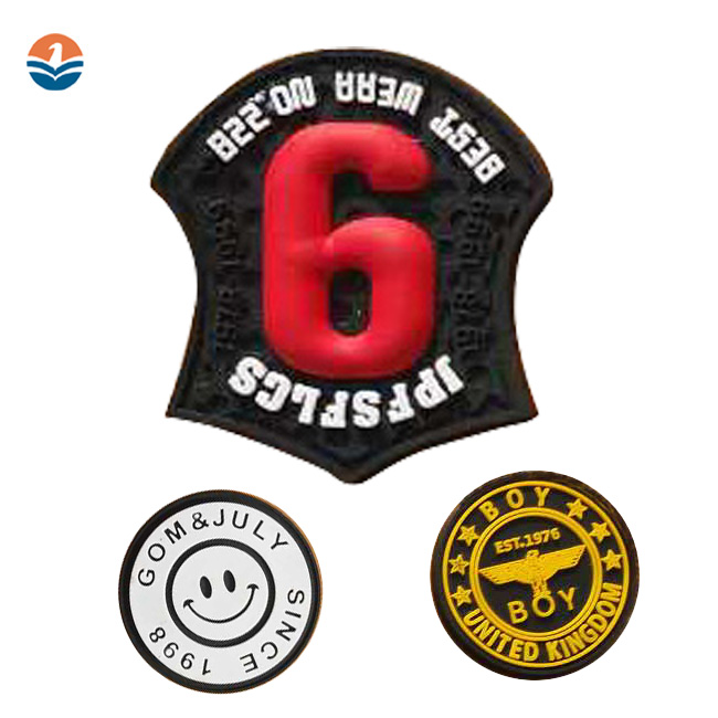 Custom Shape Clothing Backpack 3D Pvc Rubber Label Silicone Sticker