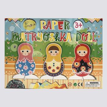 Craft Paper Matryoshka Doll Design Diy Easy Paper Craft For Kids