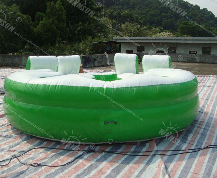 Giant 10 Person Inflatable Water Raft Pool Tropical Tahiti